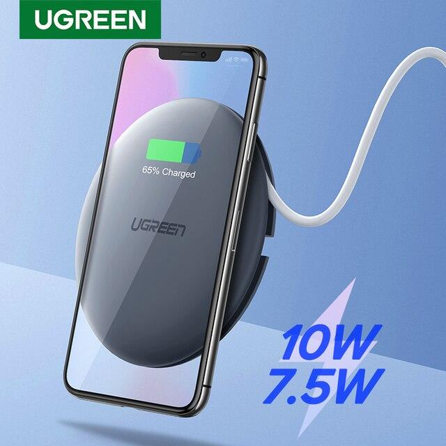 UGREEN אלחוטי מטען 10W 7.5W Qi טעינה אלחוטי עבור iPhone 11 פרו X XS 8 XR סמסונג S9 s8 מהיר טלפון אלחוטי מטען
