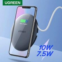 UGREEN cargador inalámbrico para móvil, Cargador rápido Qi de 10W y 7,5 W para iPhone 11 Pro, X, XS, 8, XR, Samsung S9, S8