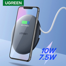 Ugreenワイヤレス充電器 10 ワット 7.5 ワットチーワイヤレス充電 11 プロx xs 8 xrサムスンS9 s8 高速電話ワイヤレス充電器