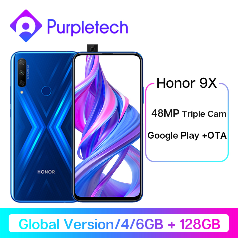 Global Version Honor 9X Smartphone 48MP Triples Camera 6.59'' Mobile Phone Android 9 Google Play  4000mAh Cell Phones