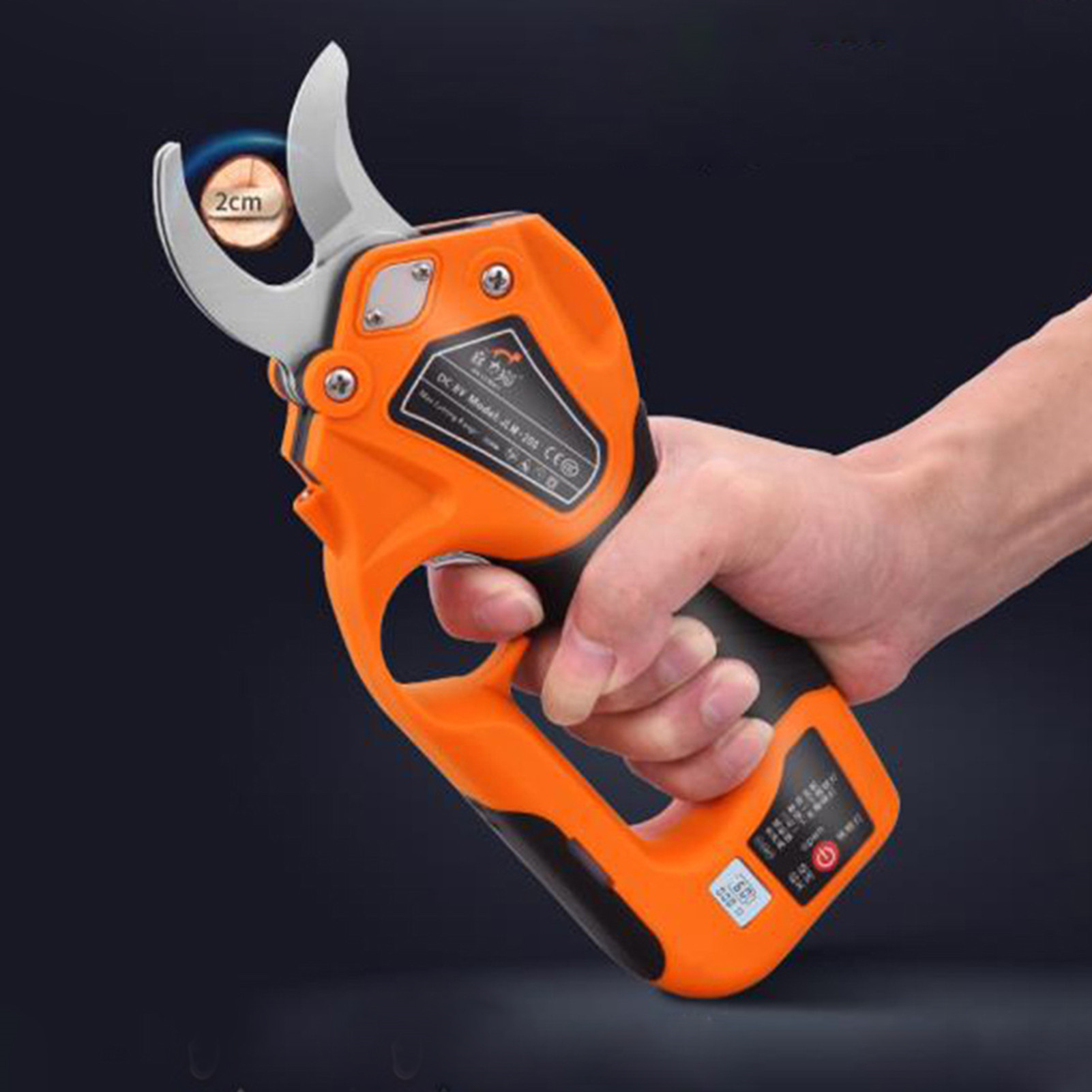 Tools : Cordless Pruner Electric Trimmer Lithium Battery Pruning Shear Fruit Tree Branch Cutter Landscaping Scissor Garden Power Tool