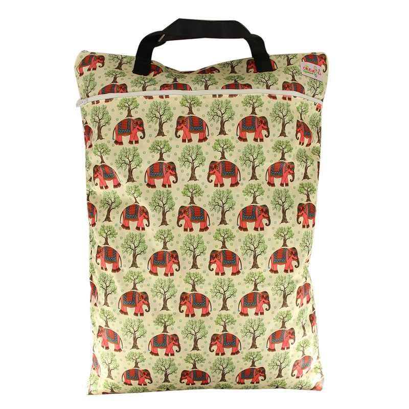 Ohbabyka 양동이 라이너 천 기저귀 기저귀 삽입 젖은 가방 대형 pul 방수 및 재사용 가능한 토트 백 1pcs 62.5x71cm 8 색