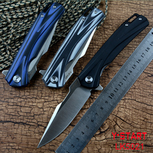 Y-START New Folding Knife Ball Bearing Washer 440C Blade G10 Handle for Outdoor Camping Hunting Pocket EDC Tools LK5021
