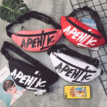 2019 tide brand fashion new pockets printed letters small bag casual diagonal cross chest