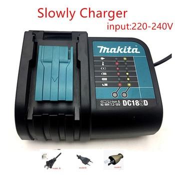 MAKITA DC18SD Charger 14.4-18V  BL1830B BL1840B BL1850B  BL1860B   replace for DC18RC комплект makita аккумулятор bl1830b li ion 18v 3ah зу dc18rc 191a25 2
