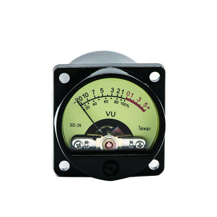 SD39 Taiwan 500UV VU Meter with Warm Backlight Panel VU Meter for Pre Amplifier|Display Screen| |  - title=