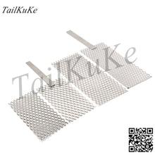 Platinum titanium mesh electroplating titanium mesh electrode gold and silver jewelry electroplating positive plate metal proces