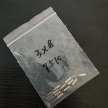 10pcs 3*8MM 308 75KHZ 75K cylindrical straight plug passive crystal 2P