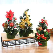 Xmas New Tree Mini Artificial Christmas Gifts Decoration Simulation Plant Table