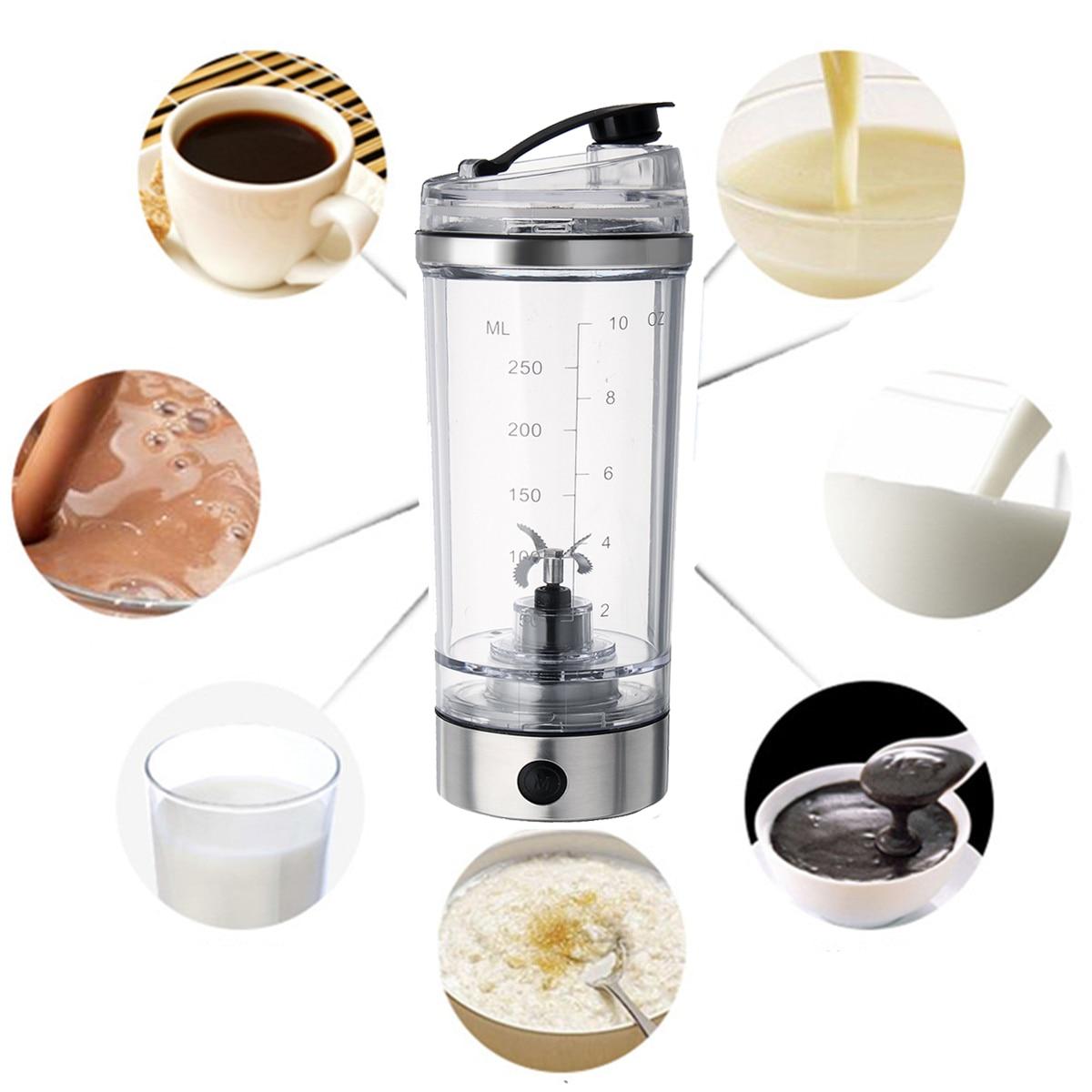 H30b08a46b00b4ca1ad3edb0f5236f322d 2019 250ML Electric Protein Shake Stirrer USB Shake Bottle Milk Coffee Blender Kettle Fitness Vortex Tornado Smart Mixer