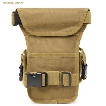 Taktik bel çantası erkekler ordu Vintage uyluk çantası yardımcı bel paketi kılıfı ayarlanabilir yürüyüş erkek bel kalça motosiklet bacak çantası