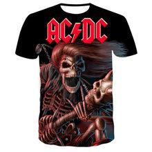 Sommer Neue Casual Style Kurzarm männer Interessant T-Shirt AC DC 3D Druck T-Shirt Marke T-Shirt Mode Männer XXS--6XL