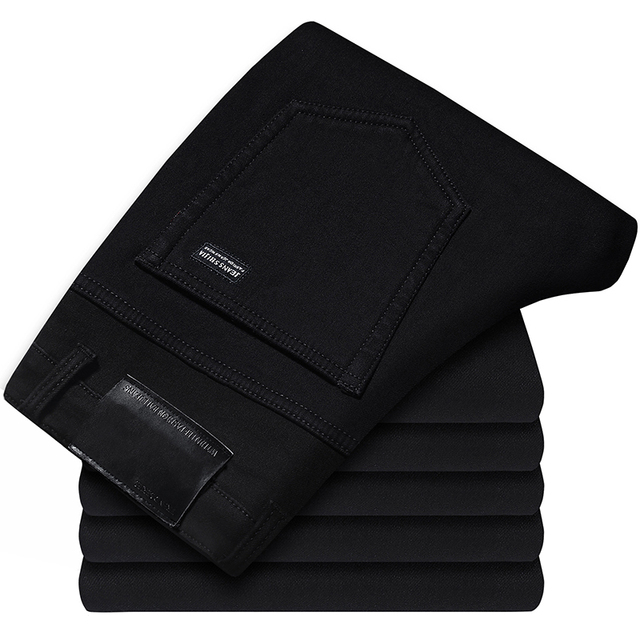 Men's Classic Advanced Stretch Black Jeans