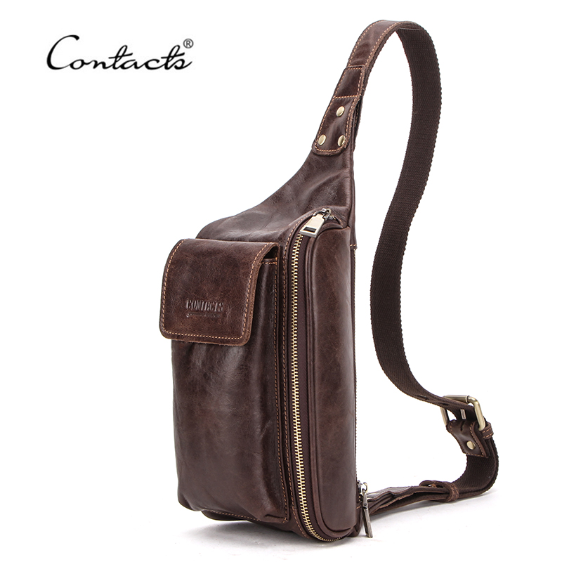 CONTACT'S Chest Bag Genuine…