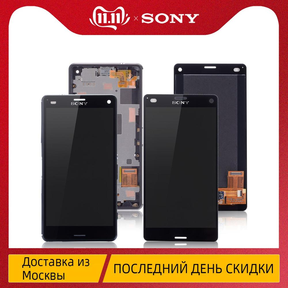 4.6 inches Original For <font><b>SONY</b></font> Xperia Z3 Compact Screen For <font><b>SONY</b></font> Xperia Z3 Compact LCD Touch Screen Z3 Mini D5803 D5833 Replacem image
