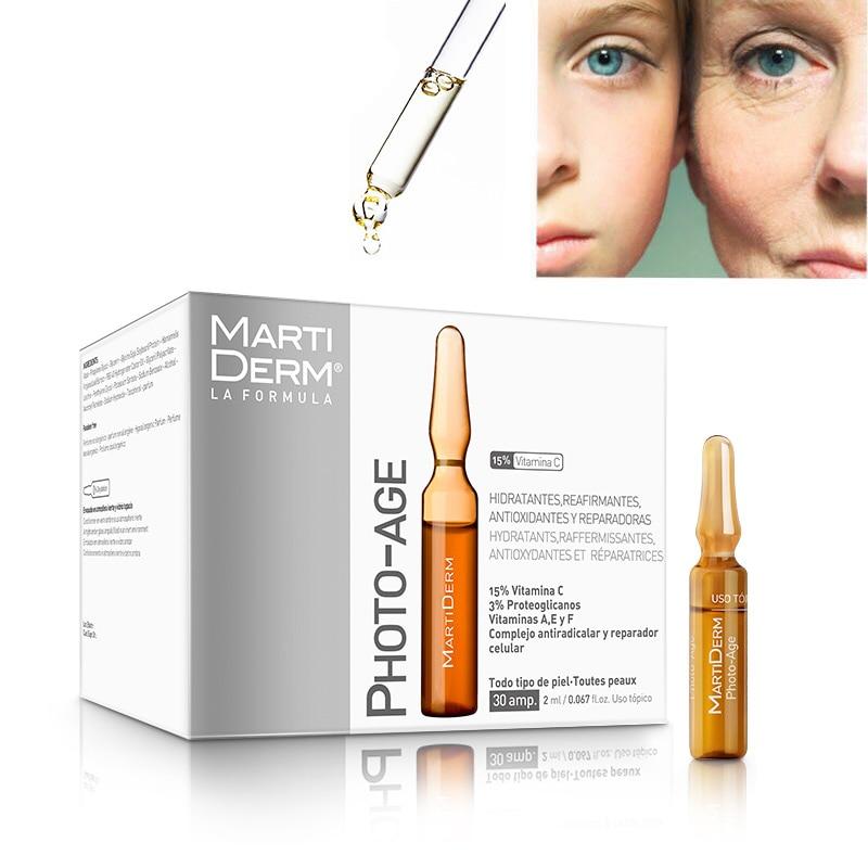 Original  Martiderm Photo Age Platinum Proteoglycan Ampoules Moisturizing Firming Antioxidant Repairing Serum 30x2ml