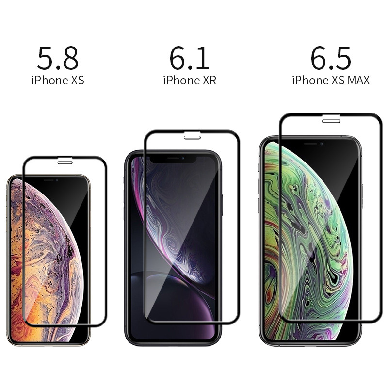 15D Protective Glass on the For iPhone X XS Max XR Tempered Screen Protector Full Cover Curved Glass For iPhone 6 6s 7 8 Plus XR-2