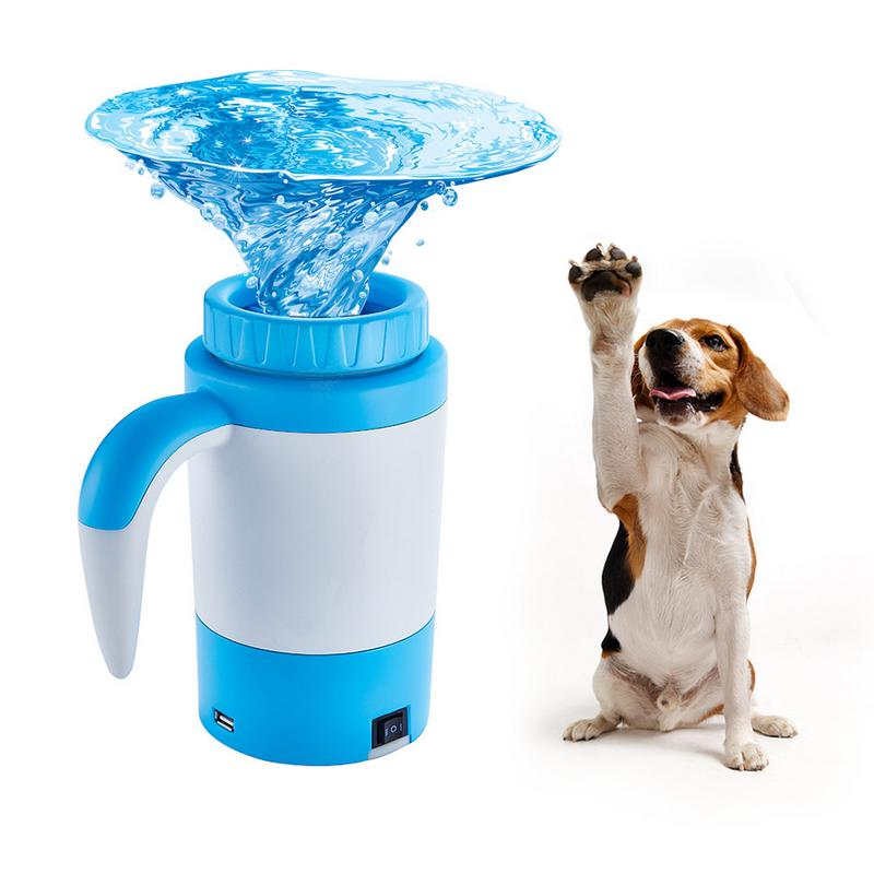 Doux doux Silicone Portable Pet patte nettoyant USB Rechargeable automatique pied laveuse sale chat chien pied nettoyage brosse peignes