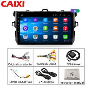 Image 5 - 9 Inches 2din Android8.1 Car Radio Multimedia Player For Toyota Corolla E140/150 2008 2009 2010 2011 2012 2013 Stereo navigation