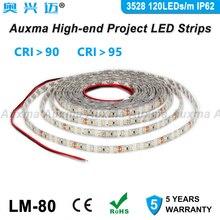 3528 120 LEDs/m LED Streifen, IP62 Dropper silikon kleber wasserdicht, CRI95 CRI90, DC12V/24 V 9,6 W/m 600 LEDs/Reel, für innen schränke