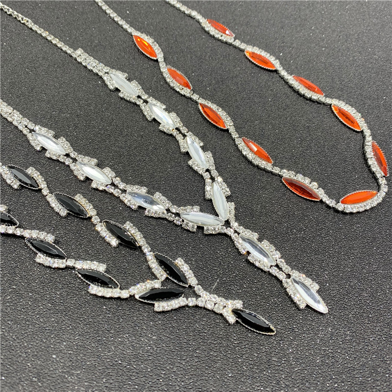 Drop Shipping Silver Plated Royal Red Crystal Wedding Jewelry Sets for Women Leaf Long Necklace Earrings Bridal Jewelry Sets