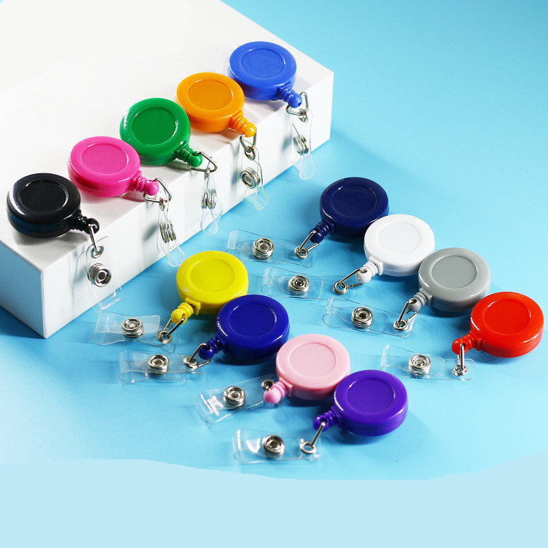 1PCS Students Bank Credit Card Holders Women Men Bus ID Card Holders Identity Badge With Retractable Reel Tag Office