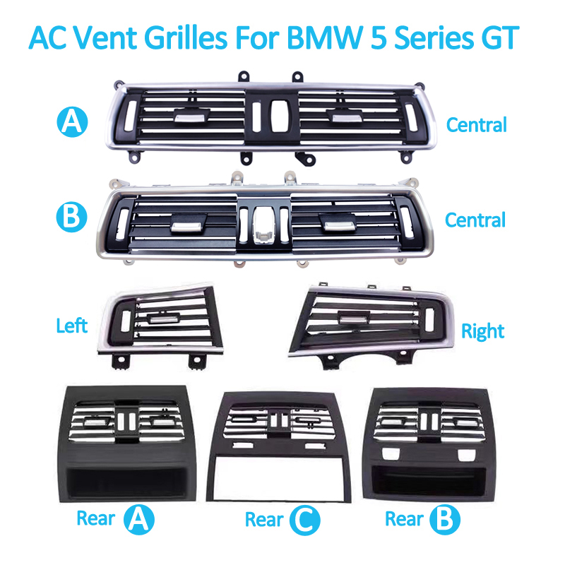 Auto Front Links Rechts Center Achter A/C Air Conditioner Chrome Outlet Vent Dash Panel Grille Voor Bmw 5 serie Gt 528 535 F07 10 17 - 5