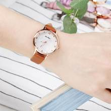 Women Fashion Brown Watch Quartz Leather Ladies Wristwatches 2020 Elegant Brand Flower Number Dial Woman Clock Montre Femme(China)