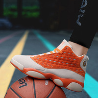 KD Non slip Wrapped ankle High top Couple basketball shoes Light protection ankle wear resistant breathable sports shoes