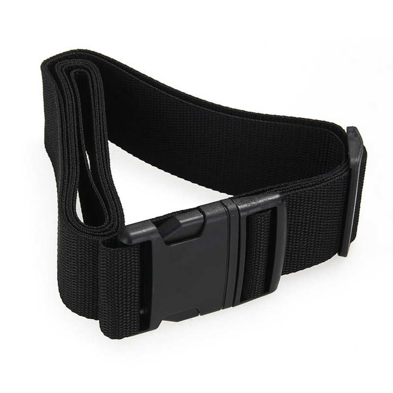 ABZC-Luggage Belt Strap Belt Cord Rope Black For Suitcase Travel Bag 2M