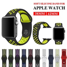 цена на Watch Band 44 Mm/40mm Iwatch Band Silicone Strap for Apple 38mm 42mm Sport Bracelet Rubber Watchband for Apple Watch 5 4 3 2 1