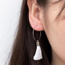 Bohemian Handmade Earrings Hot Fashion New Temperament Simple Long Tassel Women Wholesale Sales For