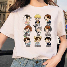 Kpop Stray Kids Women T-shirt Hip Hop Harajuku Korean Kawaii Tshirt Top