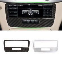Para mercedes benz glk x204 2013 2014 textura de fibra carbono do carro console central modo voz quadro capa protetora guarnição