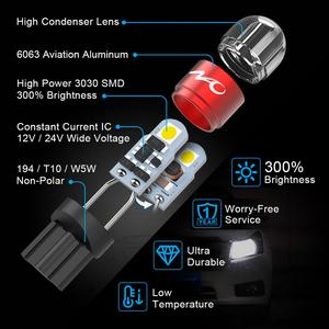 Image 3 - NAO T10 LED W5W Car Bulbs 6pcs 168 194 Turn Signal Auto Clearance Lights 12V License Plate Side Trunk Lamp COB White 3030 SMD