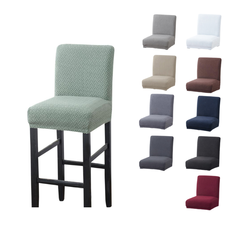 Jacquard Spandex elastic Chair Cover Solid Seat Covers for Bar Stool Chairs Slipcover Home Hotel Banquet