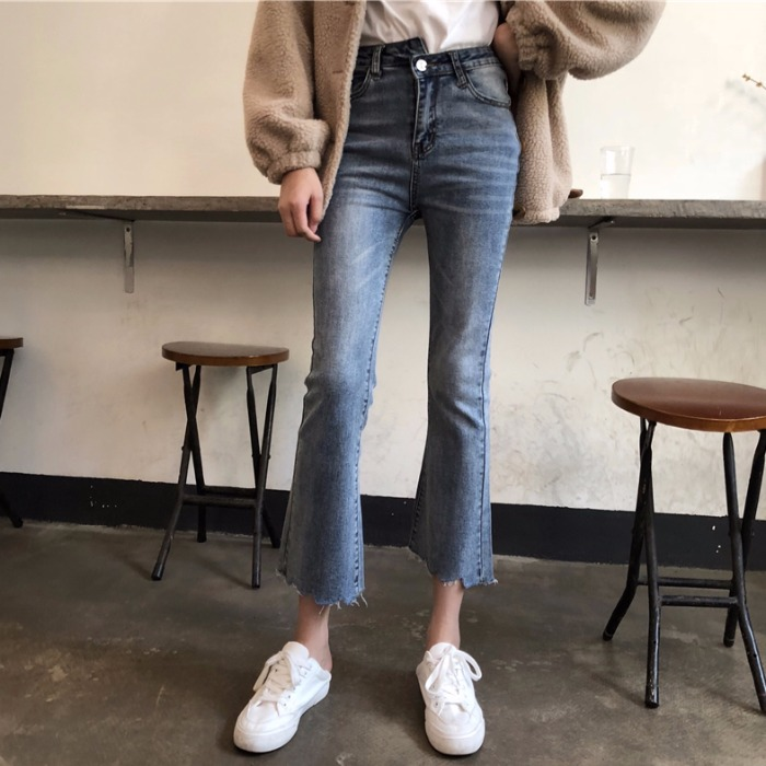 Cheap Wholesale 2019 New Spring Autumn Hot Selling Women's Fashion Casual  Denim Pants XC12