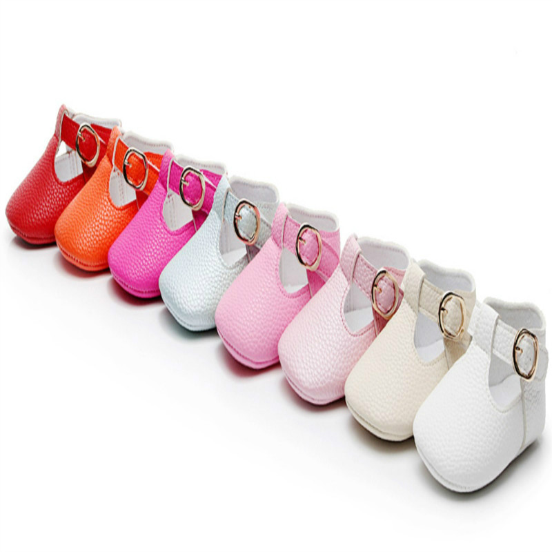 Kids Baby Moccasins Baby Girl Child Shoes PU Leather Princess Crib Shoes Newborn Soft New Born Girl Shoes First Walker 11-13cm