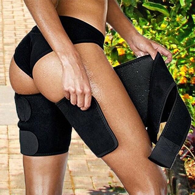 Effective Woman Leg Shaper Sauna Sweat Slimming Thigh Belt Body Shaper girdle Slim Shapewear Thermo Compress Thigh Slimming Belt 4