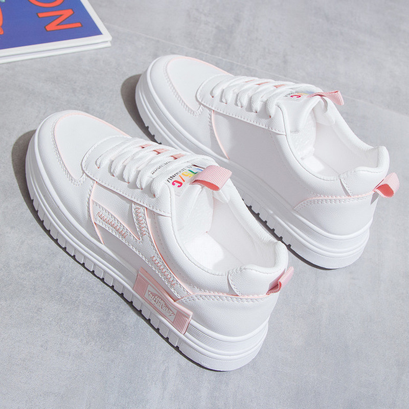 Women Platform Shoes Fashion Sneakers Height Increasing Woman Casual Loafers Comfortable Soft Bottom New Student Skateboarding