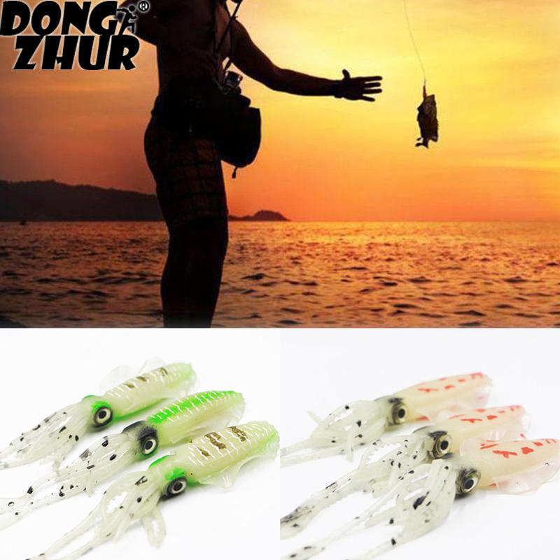 Fishing Soft Lure 10g 120mm Luminous/UV Squid Fishing Lures Octopus For Sea Fishing Bait 5 Types To Choose