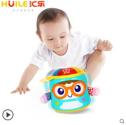 Department Of Music 667 Early Childhood Educational Baby To Bed Comforter Toys Infants Sound And Light Tumbler Toy 0-1-3-Year-Ol
