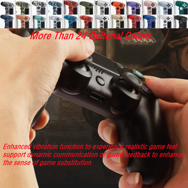 24Colors Bluetooth Double Vibration Controller For PS4 PS3 Wireless Gamepad Joystick For PS4 Games Console USB 6Axis Joypad 2