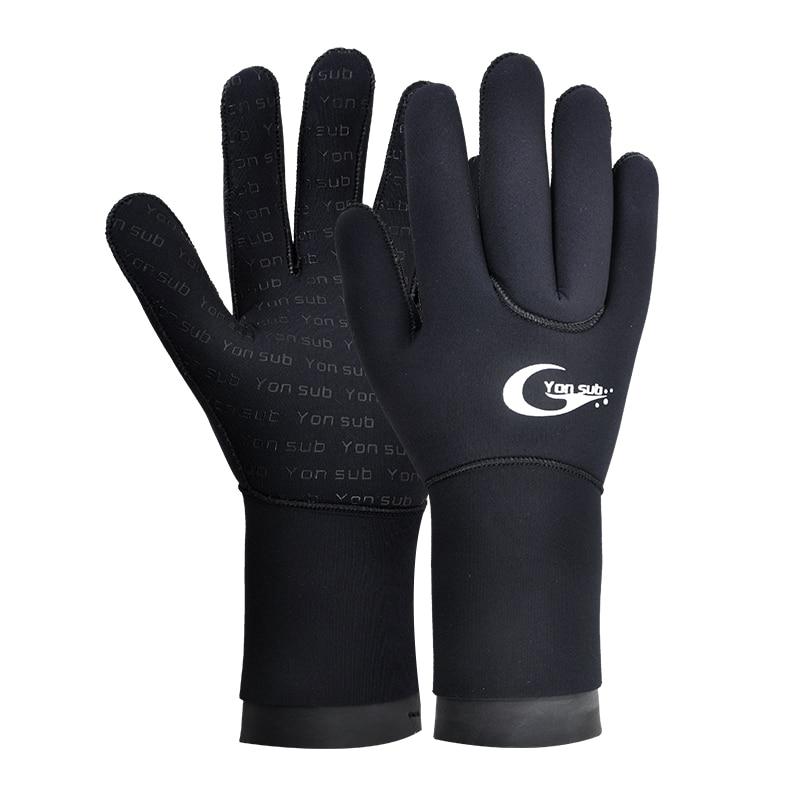 Neoprene Diving Gloves Non-slip Swimming Surfing Dive Warm Wetsuit Gloves Black