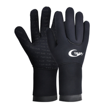 3MM neoprenowe Scuba elastyczne ulepszenie rękawice do nurkowania Snorkeling Surfing rękawice antypoślizgowe utrzymać ciepły sprzęt do nurkowania dla mężczyzny kobiety tanie tanio Yon Sub neoprene YW1202 black grey 3MM diving gloves S M L XL yonsub