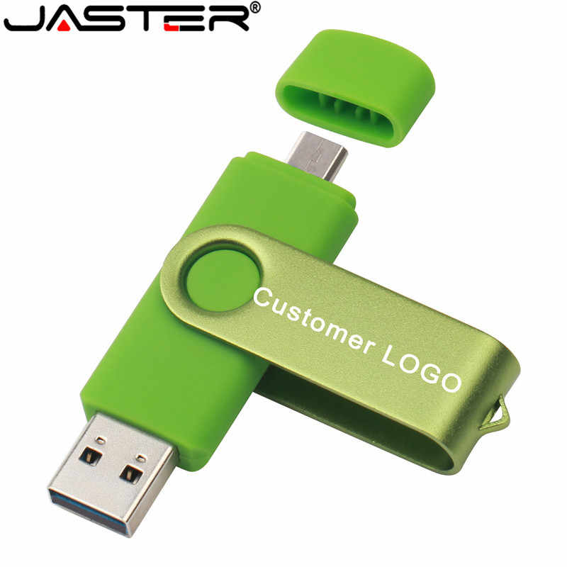 Jister usb 2.0 otg usb flash drive, telefone inteligente, tablet, pc 4gb 8gb 16gb 32gb 64gb 128gb pendrive otg real capacidade usb vara