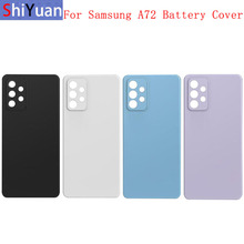 Back Battery Cover Rear Door Panel Housing Case For Samsung A72 A725 Battery Cover with Camera Lens Replacement Part