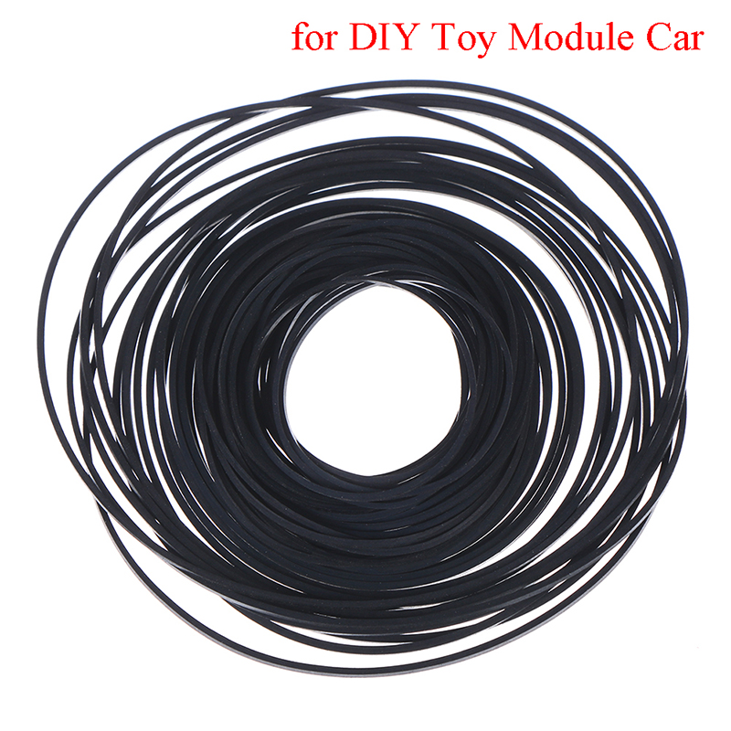 1pack Mix Cassette Tape Replacement Rubber CD DVD Cassette Tape Recorder Turntable Strap Belt For CD-ROM Video Machines 1*1mm