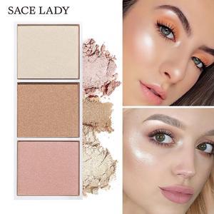 Image 3 - SACE LADY Highlighter paleta de maquillaje, contorno en polvo, bronceador facial mate, colorete pigmentado, paleta cosmética, venta al por mayor