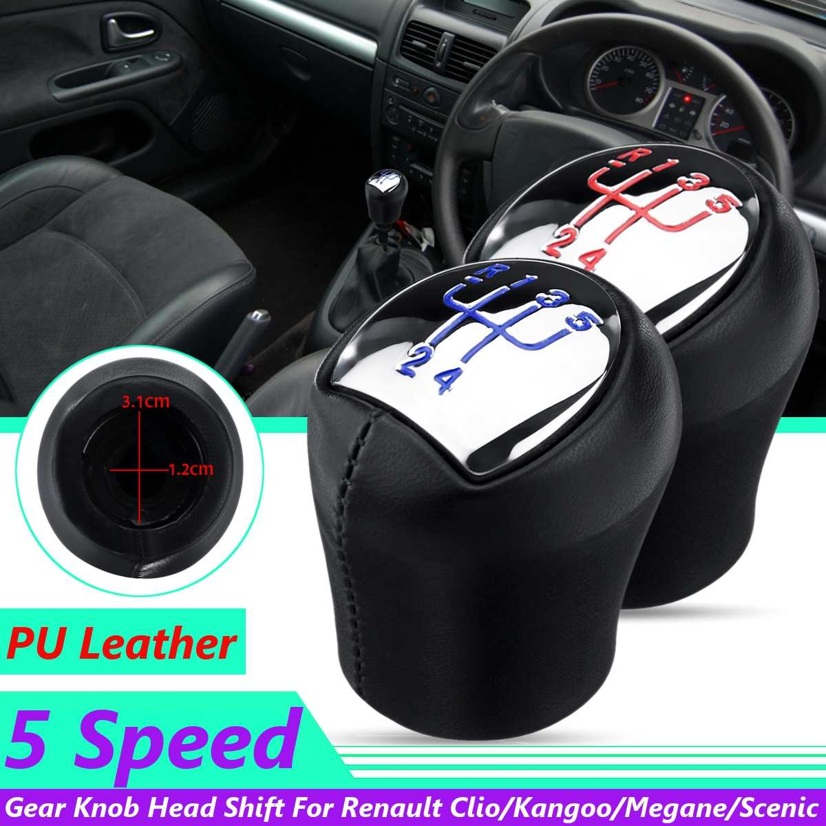 Renault Modus Espace Twingo Kangoo Gear Knob /& Shift Stick Sleeve Adapter Lever